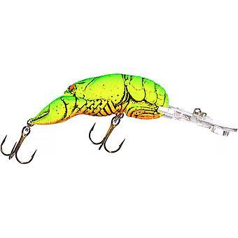 Rebel Deep Wee languster 3/8 oz fiske Lure - Chartreuse/grön tillbaka