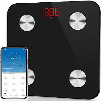 Kroppsfett skala Bluetooth vikt skala hushåll mäta elektronisk smart