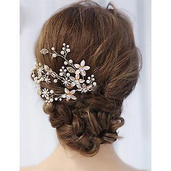 Floral Bridal Headband (aur)