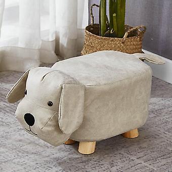 Animal Footstools Stool Cute Dog/dinosaur/deer Style Pu Padded Cushion Seat