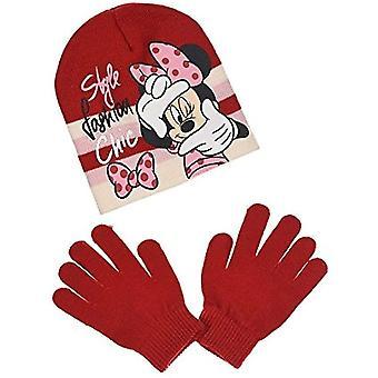 Disney Minnie Mouse Mädchen Set Mütze & Handschuhe