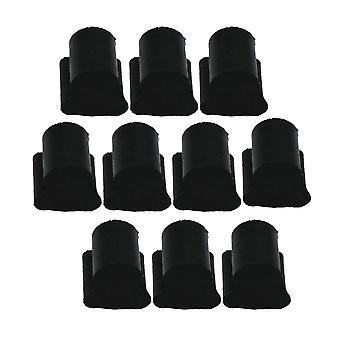 10 pc's Zwart Anti-noise Horn Zuiger Rubber voor Flat Key Euphonium/Horn