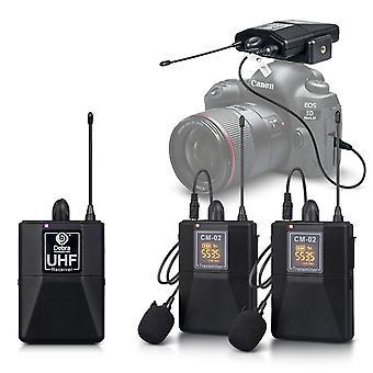 Bezdrôtový lavalier mikrofón s 30 voliteľným kanálom