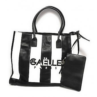Gaëlle Maxi Shopper Women's Bag With Black Faux Leather Clutch Bs21ge04 Gbda2218