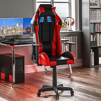 Nitro Racing Gaming Home Office Faux Leather Chair, Red & Black
