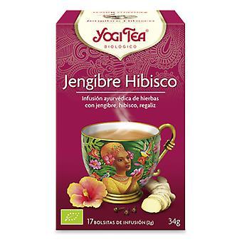 Yogi Tea Ginger Hibiscus 17 Sachets
