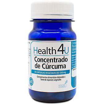 Health 4U Turmeric Concentrate 550 mg 30 Vegetable Capsules