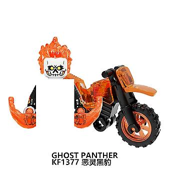 Building Blocks Ghost Rider With Motorcycle Plastic Learning Figures