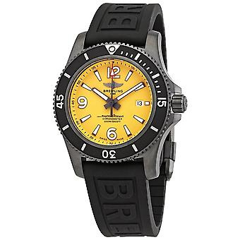 Breitling Superocean 46 Automatic Yellow Dial Men's Watch M17368D71I1S2