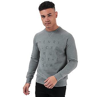 Sweat-shirt Henri Lloyd Garshall Crew homme en gris