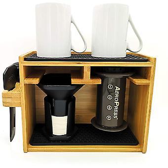 Gerui 8211; Organizer, Compatible with AeroPress, Caddy Station, Holds AeroPress Coffee Maker,