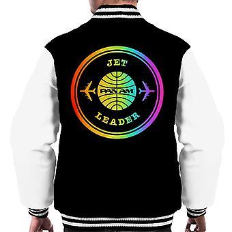 Pan Am Jet Leader Rainbow Foil Men's Varsity Jacket