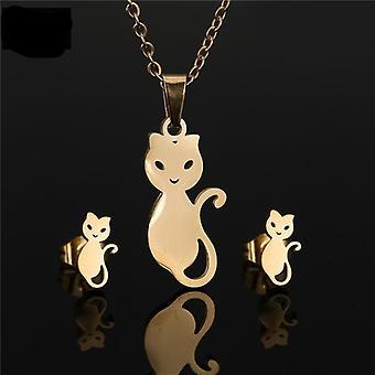 Bear, Clover, Heart, Fish, Snowflake. Shape Pendant Necklace Sets
