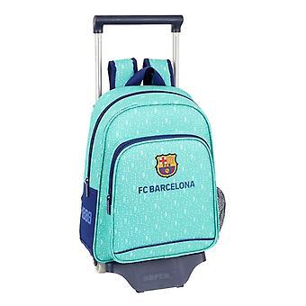 School Rucksack pyörillä 705 F.C. Barcelona 19/20 Turkoosi