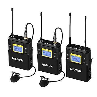 MAMEN WMIC-01 Professional UHF Dual-Channel Digital Wireless Microphone System