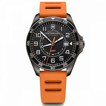 Relógio Victorinox FieldForce masculino em borracha laranja - 42 mm