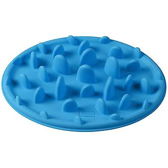 Blaue langsame Pet Feeder Anti-Choke Schale für die Fütterung kleine Hunde und Katzen