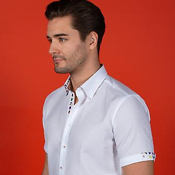 NON-DISCOUNTED / SALE ITEM Textured Embossed Shirt With Polka Dot Insert