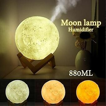 Moon Lamp Humidifier - Aromatherapy Diffuser LED Desk