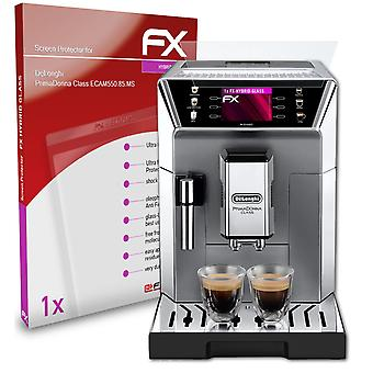 atFoliX Glass Protector compatible with DeLonghi PrimaDonna Class ECAM550.85.MS 9H Hybrid-Glass