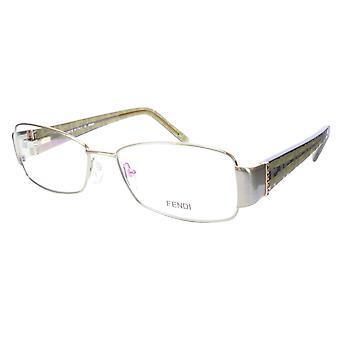 FENDI Eyeglasses Frame F908R (317) Metal Acetate Green Italy 54-16-130, 33