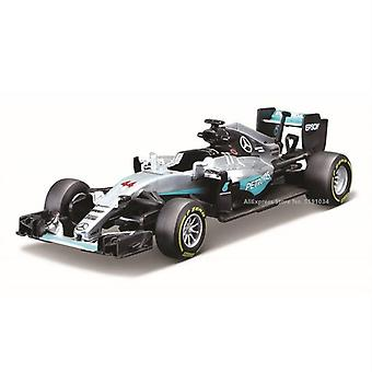 1:43 Mercedes Benz AMG 6 44 Alloy F1 car casting car simulation car decoration gift toy(Matte gray)