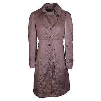 Creenstone Timeless Silky Look Mac Style Zip & Button Front Coat