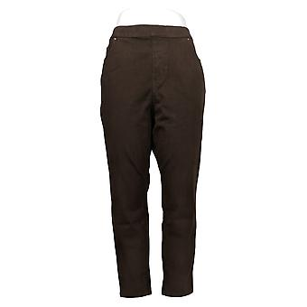 Belle by Kim Gravel Women's Pants 18 Petite Pull-On Jegging Brown A368551