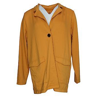 Cuddl Duds Women's Lightweight Comfort Blazer w/ Pockets Orange A391574