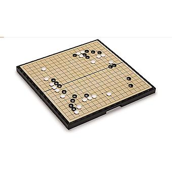 Large magnetic go game set board with single convex stones portable and travel ready set x1548