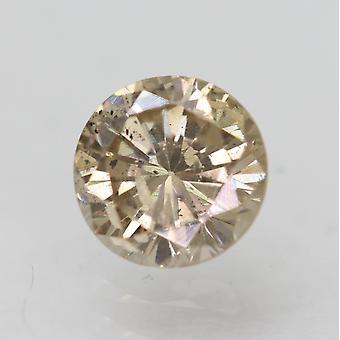 Cert 0.62 Carat Jaune Brun SI2 Rond Brillant Amélioré Diamant Naturel 5.35mm