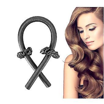 Black heatless hair curlers you can sleep insoft no heat curlers headband x6660
