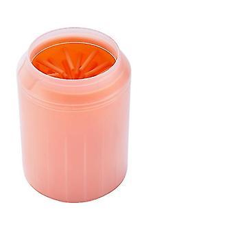 S 7,2 * 9,3 * 5,5 cm oranžová bezpečná detská noha kúpeľ mäkká silikónová kefa az3543