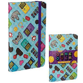Retro Gaming Design Hardback Notebook