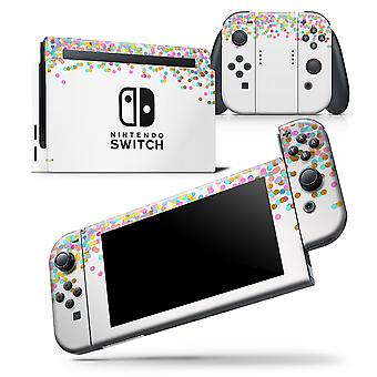 Descending Multicolor Micro Dots - Skin Wrap Decal For Nintendo Switch