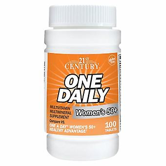 21st Century One Daily 50+ Womens, 100 Tabs