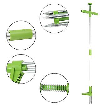 Root Remover Outdoor Tool Claw Weeder Portable Manual Garden Lawn Long Handled Aluminum Stand Up