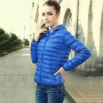 المرأة الدافئة الشتاء زيبر معطف مقنعين طويلة الأكمام السترات الخارجية قسم رقيقة