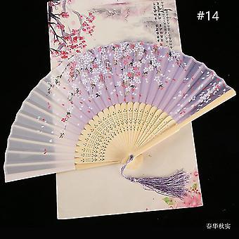 Chinesische Vintage Stil Falten Fan Kunst Handwerk Geschenk Tanz Hand Fan Home Decoration Ornamente(#14)