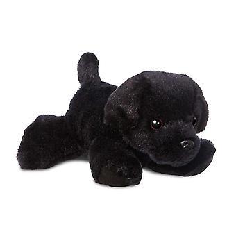 Aurora Mini Flopsies Black Labrador Dog Soft Toy 20cm