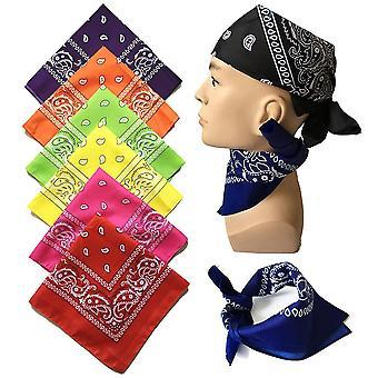 Mode Hip Hop Männer Frauen Bandana Sport Kopfbedeckung Paisley Bandana Handgelenk Haarwickel Doppelseitiger Kopf