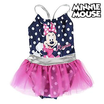 Swimsuit for Girls Minnie Mouse Navy blue