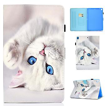 Case For Ipad 8 10.2 2020 Cover With Auto Sleep/wake Pattern Magnetic - White Cat