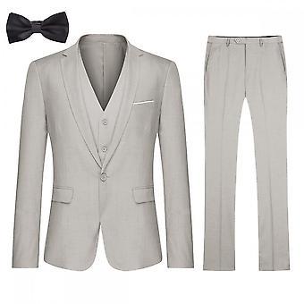 Silktaa Heren 4 Stuks Pak Slim Fit Party Blazer Vest Broek Cravat