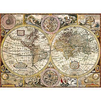 Clementoni Old Map Puzzle di alta qualità (3000 pezzi)
