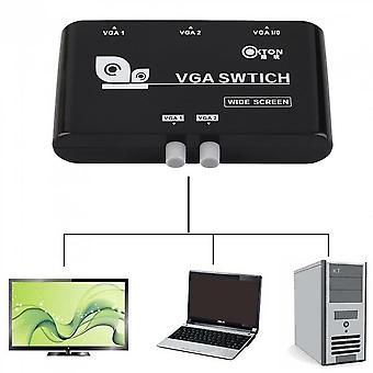 2 In 1 Out Vga/svga Manual Sharing Selector Switch Switcher Box For Lcd Pc