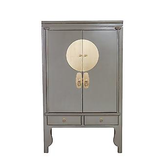 Fine Asianliving Armoire de mariage chinoise Gris Olive - Collection Orientique W100xD55xH175cm