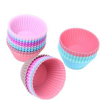 Set of 12 pieces(1 dozen) 3cm mini muffin cup round silicone cake baking molds cupcake pan