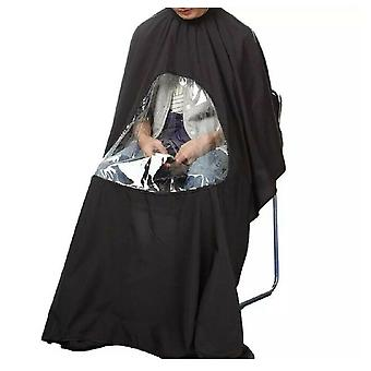 Hair Cutting Barber Cape With Window Phone Viewing