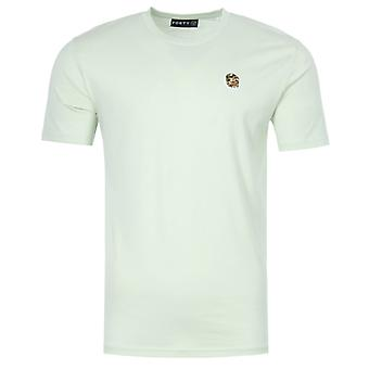 Forty Ben Camo Badge Organic Cotton T-Shirt - Seafoam Green